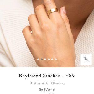 Majuri Boyfriend Stacker size 9 in gold vermeil